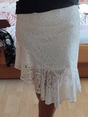 Vero Moda Asymetryczna spódniczka biały