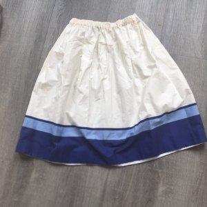 Prada Milano Falda de patinador azul-blanco puro