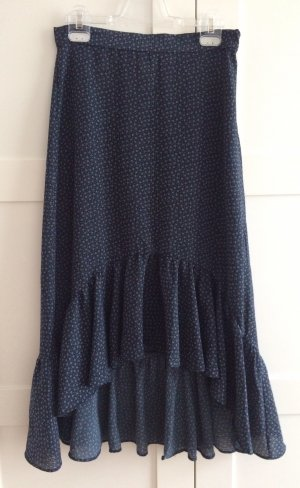 H&M Spódnica z falbanami ciemnoniebieski-biały
