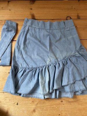 Bohoo Spódnica mini jasnoniebieski