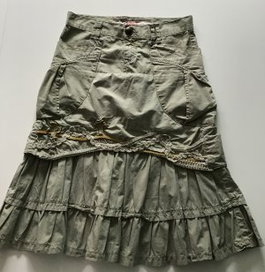 Take Two Flounce Skirt khaki
