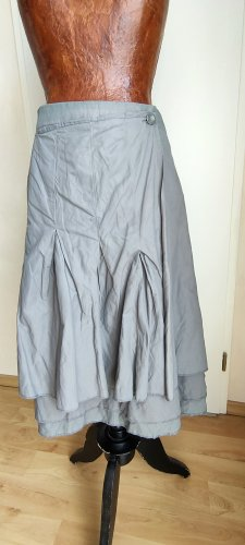 Yaya Wraparound Skirt grey cotton