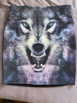 Rock mit Wolfsmotiv