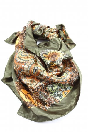 Rock n Rose Foulard kaki-orange clair motif de fleur style décontracté