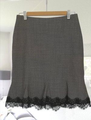 Nicowa Wool Skirt white-black