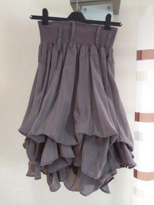 nü by staff-woman Balloon Skirt grey brown