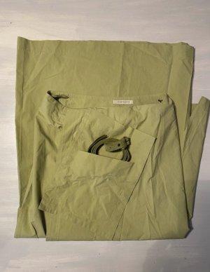 Annette Görtz Wraparound Skirt pale green-lime-green cotton
