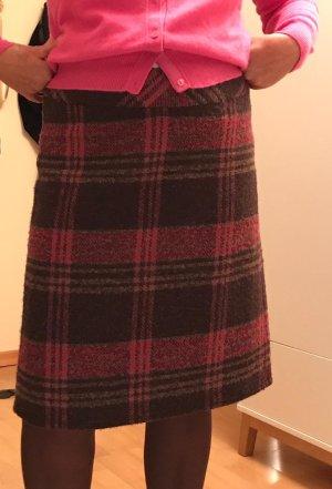 Rock Pink/dunkelbraun aus Wollmischung