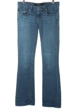 Rock & Republic Jeansschlaghose stahlblau Washed-Optik