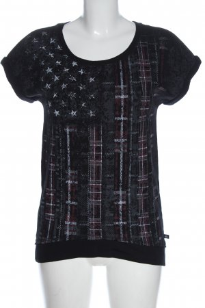 Rock & Republic Knitted Jumper black-light grey abstract pattern casual look
