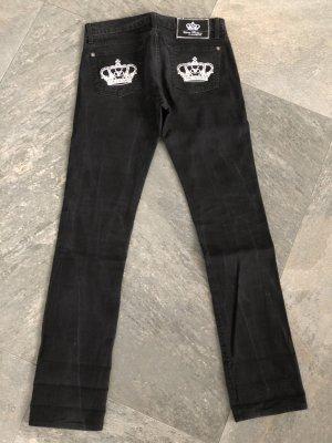 Rock & Republic Straight Leg Jeans black cotton