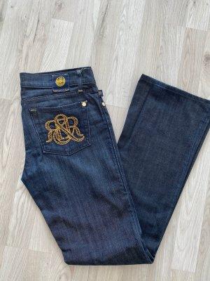 Rock & Republic Vaquero de corte bota gris pizarra-azul oscuro