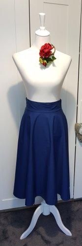 Reserved Spódnica midi niebieski-stalowy niebieski