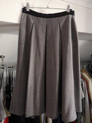 Concept Reserved Plisowana spódnica czarny-szary Tkanina z mieszanych włókien