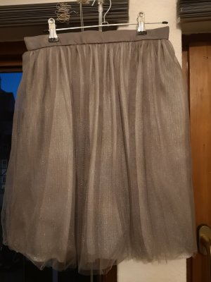 Reserved Tulle Skirt grey mixture fibre