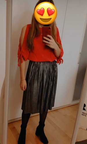 Reserved Pleated Skirt silver-colored