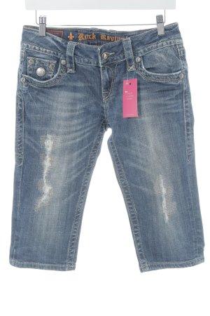 Rock Revival 3/4 Jeans blau Used-Optik