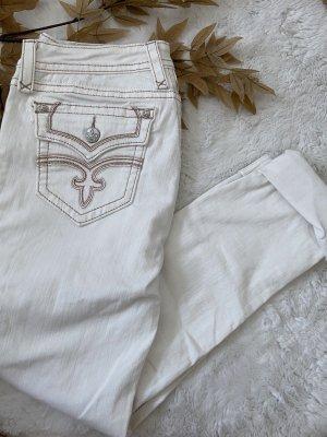 Rock Revival Jeans boyfriend blanc