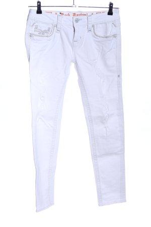 Rock Revival Jeans vita bassa bianco stile professionale