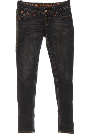 Rock Revival Jeans taille basse noir style décontracté