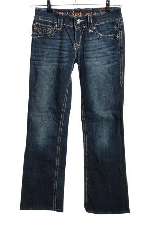 Rock Revival Jeansschlaghose blau Casual-Look