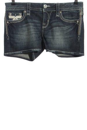 Rock Revival Short en jean bleu style décontracté