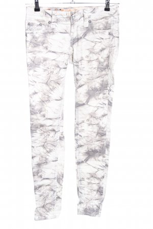 Rock Revival Röhrenhose weiß-hellgrau abstraktes Muster Casual-Look
