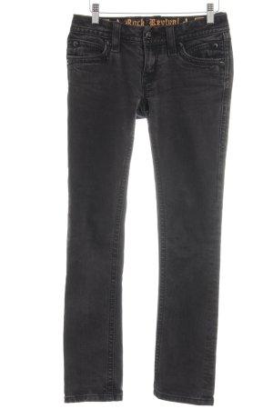 Rock Revival Straight-Leg Jeans schwarz schlichter Stil