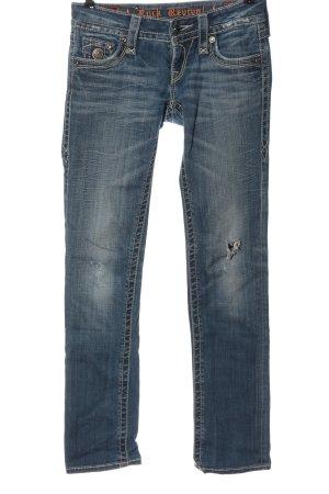Rock Revival Straight-Leg Jeans blau Casual-Look