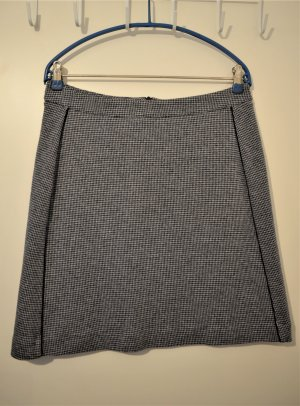 s.Oliver WOMEN Jupe en laine bleu foncé-blanc cassé laine