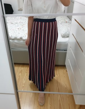 Sandro Maxi Skirt brick red-dark blue viscose