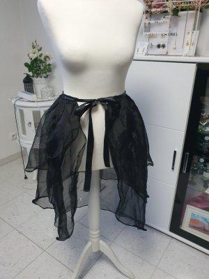 Rock schleppe rüschen schwarz Halloween verkleiden gothic Kostüm Fasching Karneval