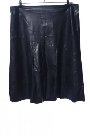 Faux Leather Skirt black casual look