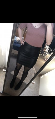 New Yorker Faux Leather Skirt black