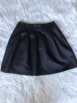 Pimkie Falda globo negro-color plata Algodón