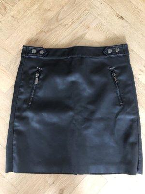 Esqualo Jupe en cuir synthétique noir