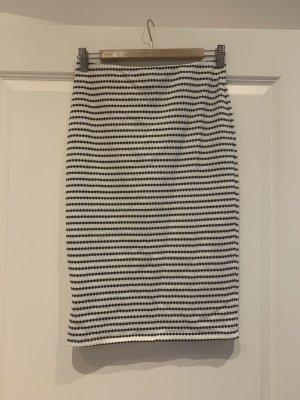 Mango Basics Pencil Skirt black-white