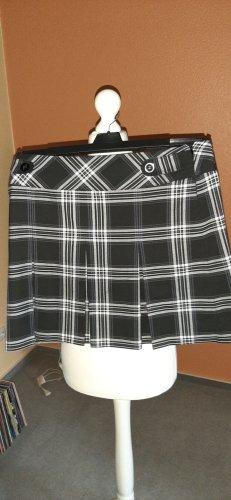 Rock, schwarz.-weiß-grau, Gr. 40,  ideal zu Stiefeln