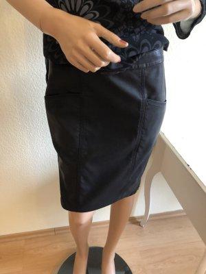 koralline Faux Leather Skirt black