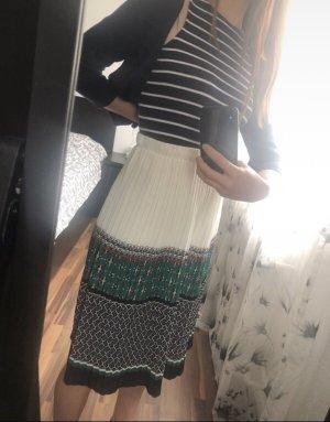 Sabrina Diamanti Jupe plissée blanc-bleu foncé