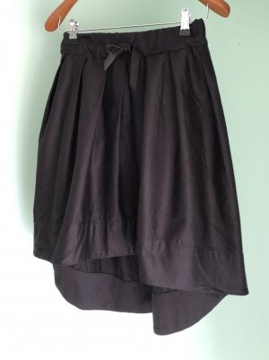 Rock, Skirt, eleganter Rock, Rock, schwarzes asymmetrisches Kleid S