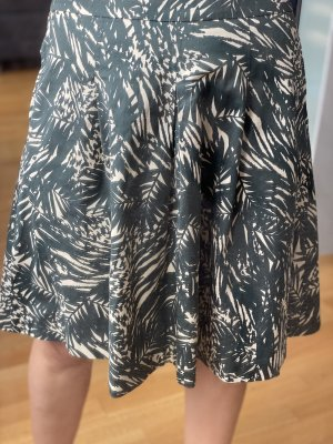 1.2.3 Paris Plaid Skirt dark green-natural white