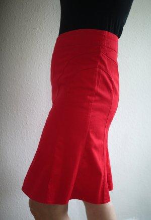 Flounce Skirt red-dark red