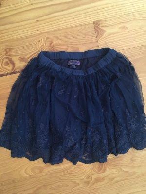 Review Kanten rok donkerblauw