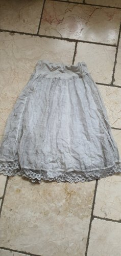 Jupe en soie blanc-gris clair