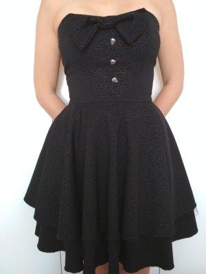 Rock Steady Sukienka z gorsetem czarny