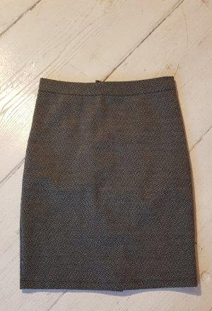 aus Italien Mini-jupe noir-gris foncé