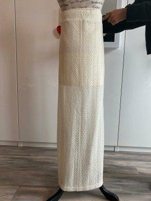 Guess Falda de punto blanco puro