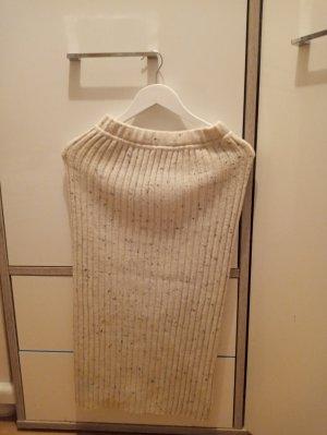 Falda de lana beige claro