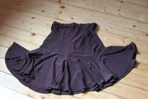 Jupe à volants brun foncé tissu mixte